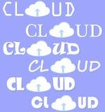 Комплект вектора облака вычисляя Стоковое Фото