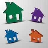 Комплект вектора домов 3d Стоковые Фотографии RF