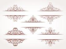 Комплект вектора орнаментальных рамок Стоковые Изображения