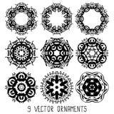 Комплект вектора орнамента Стоковое Изображение