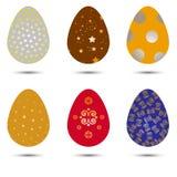 Комплект вектора пасхальных яя Стоковые Изображения RF