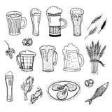 Комплект вектора пива Стоковые Изображения