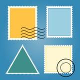 Комплект вектора пустых красочных штемпелей почтового сбора Стоковая Фотография RF