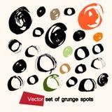 Комплект вектора пятен grunge Стоковое Изображение