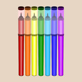 Комплект вектора плоский отметок цвета Стоковые Фотографии RF
