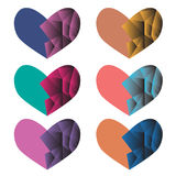 Комплект вектора сердца Стоковые Изображения