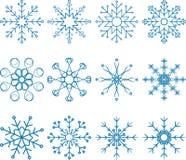 Комплект вектора снежинки Стоковая Фотография RF