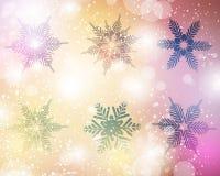 Комплект вектора снежинки Стоковое Изображение