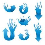 Комплект вектора собраний стрелки воды Стоковые Фото