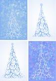 Комплект вектора стилизованной рождественской елки бесплатная иллюстрация