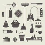 Иконы чистки иллюстрация вектора