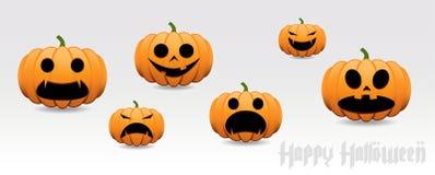 Комплект вектора тыквы хеллоуина Стоковая Фотография