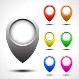 Комплект вектора указателя карты цвета Стоковые Изображения