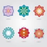 Эзотерические установленные иконы Стоковые Фотографии RF