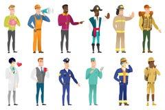 Комплект вектора характеров профессий бесплатная иллюстрация