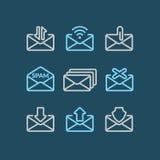 Комплект вектора электронной почты значков Стоковая Фотография