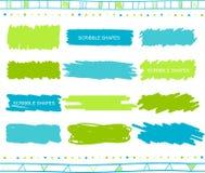 Комплект вектора элементов scribble Стоковые Фото