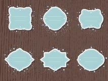 Комплект вектора ярлыков и бирок с рамками и декоративным кругом Стоковое Фото