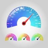 Комплект вектора Seedometers Стоковое Изображение