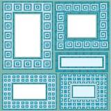 Комплект вертикальных и горизонтальных прямоугольных рамок Стоковые Изображения RF