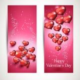Комплект вертикальных и горизонтальных рогулек с сердцами летания Комплект 1 Стоковые Изображения