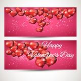 Комплект вертикальных и горизонтальных рогулек с сердцами летания Комплект 1 Стоковое Фото