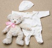 Комплект вещества моды ультрамодного для newborn младенца Стоковое Изображение RF