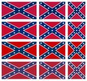 Комплект взбунтованных флагов Стоковое фото RF