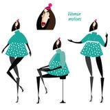 Комплект движений женщины бесплатная иллюстрация