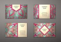 Комплект визитной карточки вектора винтажный стоковая фотография rf