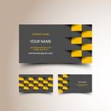 Комплект визитной карточки такси Стоковые Фото