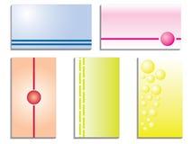 Комплект визитной карточки цвета 5 иллюстрация вектора