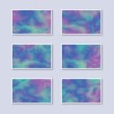 Комплект визитных карточек градиента красочных иллюстрация вектора