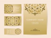 Комплект визитных карточек, приглашений, и шаблонов карточек с lac иллюстрация штока