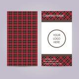 Комплект 2 визитных карточек с шотландской картиной Стоковая Фотография