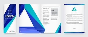Комплект визуальной идентичности с стилем элементов логотипа письма полигональным бесплатная иллюстрация