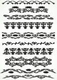 Комплект винтажной границы флористический безшовный Стоковое Изображение