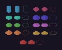 Комплект винтажных значков в 3 различных стилях Стоковое Фото