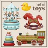 Комплект винтажных игрушек Стоковое Изображение