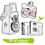 Комплект винтажных камер Стоковое фото RF