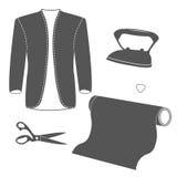 Комплект винтажных элементов дизайна портноя Стоковая Фотография RF