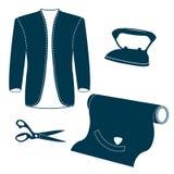Комплект винтажных элементов дизайна портноя Стоковые Изображения RF
