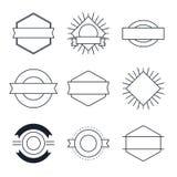 Комплект винтажных элементов стиля для ярлыков и значки опорожняют шаблоны бесплатная иллюстрация