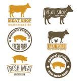 Комплект винтажных ярлыков, логотип, шаблоны эмблемы для иллюстрация вектора