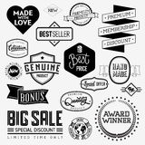 Комплект винтажных bagdes Стоковое Изображение RF