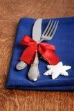 Комплект вилки ножа рождества Стоковое Изображение RF