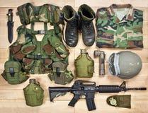 Комплект воинского оборудования XX века Стоковое фото RF