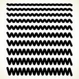 Комплект волнистого, горизонтальные прямые зигзага, рассекатели иллюстрация штока