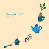 Комплект времени чая и кофе Стоковая Фотография