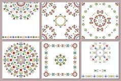 Комплект всеобщей карточки с геометрической картиной Стоковая Фотография RF